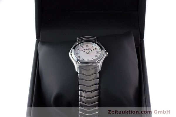 Used luxury watch Ebel Classic Wave steel quartz Kal. 87 Ref. 9087F21  | 160375 07