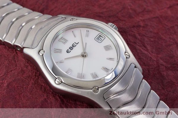 Used luxury watch Ebel Classic Wave steel quartz Kal. 87 Ref. 9087F21  | 160375 13