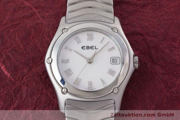 Used luxury watch Ebel Classic Wave steel quartz Kal. 87 Ref. 9087F21  | 160375 14