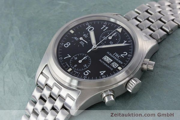 Used luxury watch IWC Fliegerchronograph chronograph steel automatic Kal. 7922 Ref. 3706-005  | 160381 01