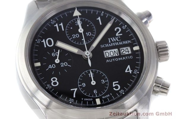 Used luxury watch IWC Fliegerchronograph chronograph steel automatic Kal. 7922 Ref. 3706-005  | 160381 02