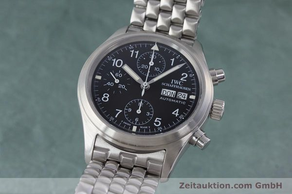 Used luxury watch IWC Fliegerchronograph chronograph steel automatic Kal. 7922 Ref. 3706-005  | 160381 04