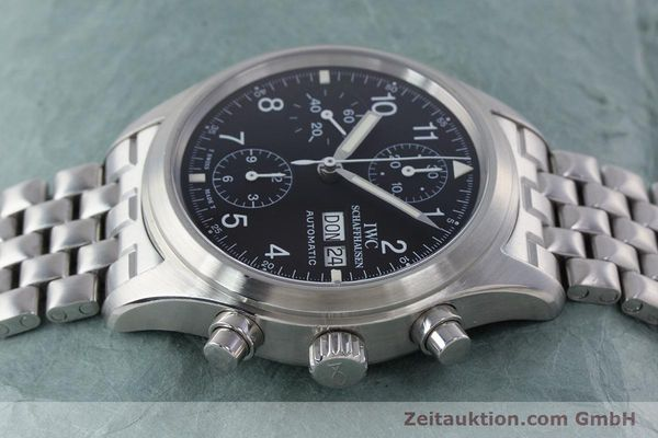 Used luxury watch IWC Fliegerchronograph chronograph steel automatic Kal. 7922 Ref. 3706-005  | 160381 05