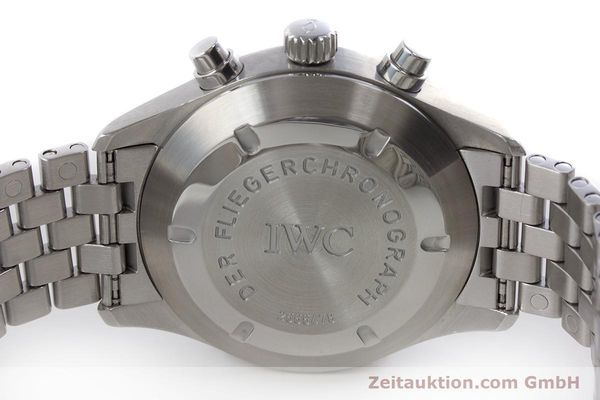 Used luxury watch IWC Fliegerchronograph chronograph steel automatic Kal. 7922 Ref. 3706-005  | 160381 09