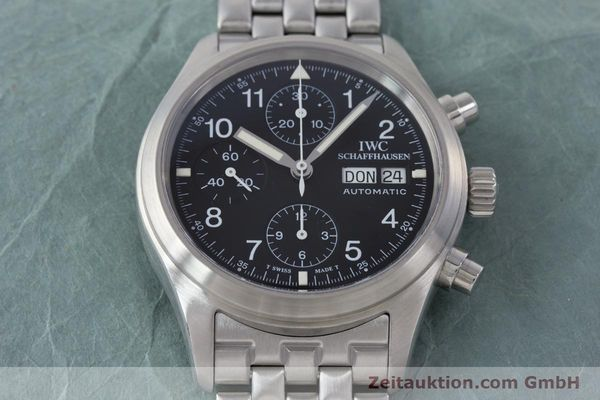 Used luxury watch IWC Fliegerchronograph chronograph steel automatic Kal. 7922 Ref. 3706-005  | 160381 18