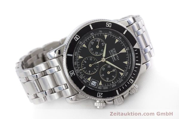 Used luxury watch Zenith El Primero chronograph steel automatic Kal. 400 Ref. 02-0370-400  | 160421 03