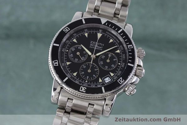 Used luxury watch Zenith El Primero chronograph steel automatic Kal. 400 Ref. 02-0370-400  | 160421 04