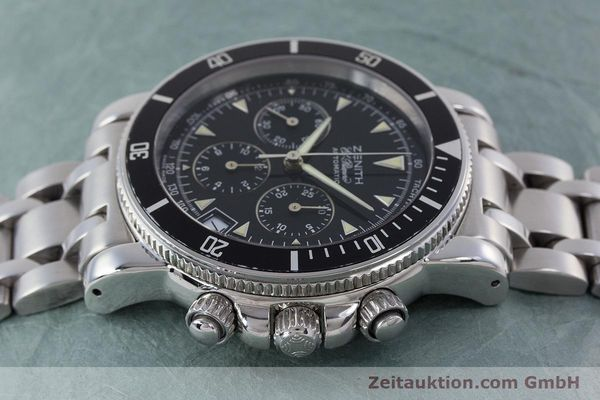 Used luxury watch Zenith El Primero chronograph steel automatic Kal. 400 Ref. 02-0370-400  | 160421 05