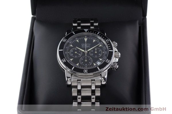 Used luxury watch Zenith El Primero chronograph steel automatic Kal. 400 Ref. 02-0370-400  | 160421 07