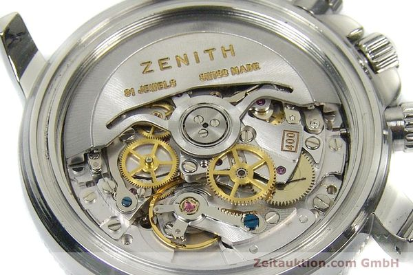 Used luxury watch Zenith El Primero chronograph steel automatic Kal. 400 Ref. 02-0370-400  | 160421 10