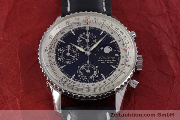Used luxury watch Breitling Montbrillant chronograph steel automatic Kal. B19 ETA 2892-2 Ref. A19030  | 160432 15