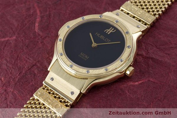 Used luxury watch Hublot MDM 18 ct gold quartz Kal. ETA 976.001 Ref. 1280.100.3  | 160440 01