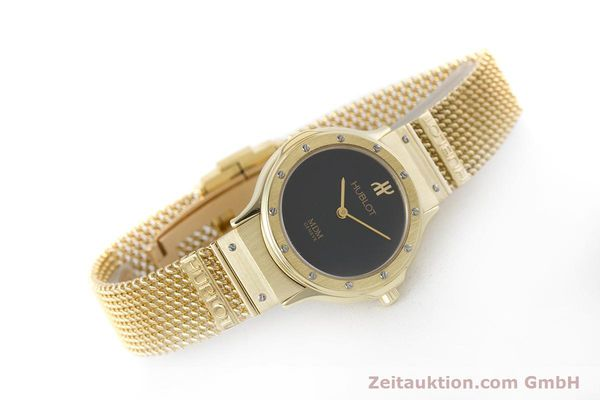 Used luxury watch Hublot MDM 18 ct gold quartz Kal. ETA 976.001 Ref. 1280.100.3  | 160440 03