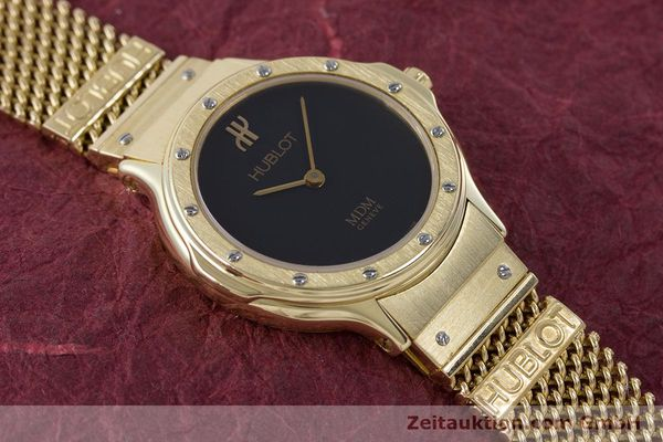 Used luxury watch Hublot MDM 18 ct gold quartz Kal. ETA 976.001 Ref. 1280.100.3  | 160440 13