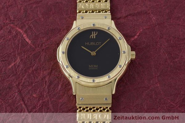 Used luxury watch Hublot MDM 18 ct gold quartz Kal. ETA 976.001 Ref. 1280.100.3  | 160440 14