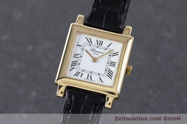 CHOPARD 18 CT GOLD QUARTZ KAL. ETA 976.001 LP: 3170EUR [160442]