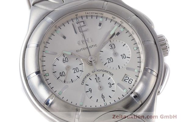 Used luxury watch Ebel Type E chronograph steel automatic Kal. 137 Ref. 9137C51  | 160445 02