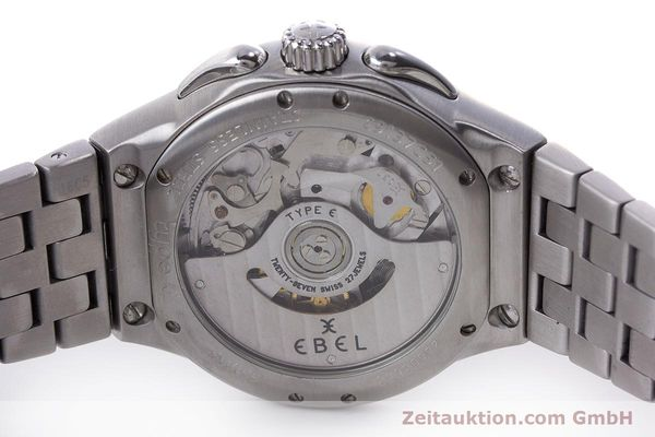 Used luxury watch Ebel Type E chronograph steel automatic Kal. 137 Ref. 9137C51  | 160445 09