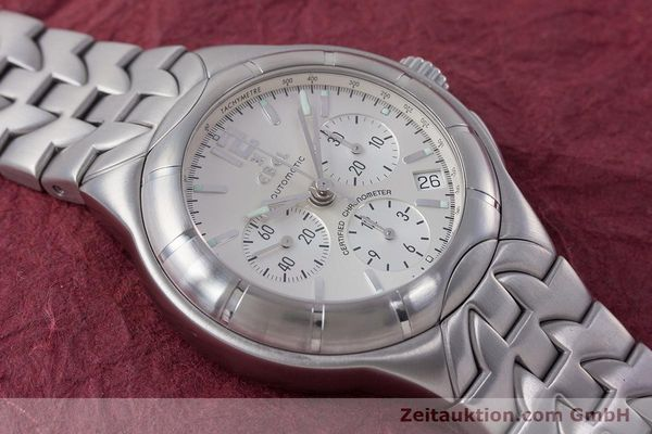 Used luxury watch Ebel Type E chronograph steel automatic Kal. 137 Ref. 9137C51  | 160445 14