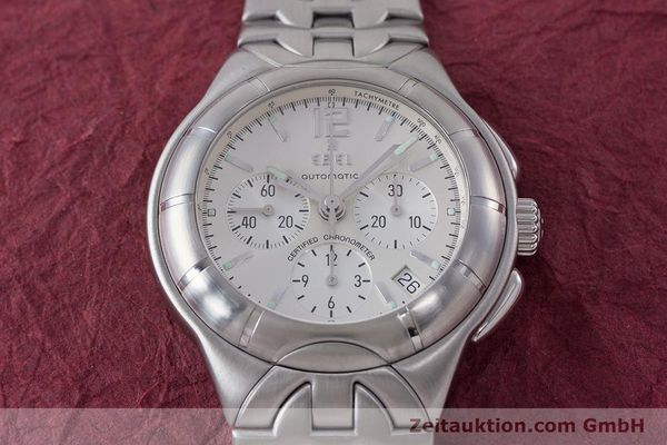 Used luxury watch Ebel Type E chronograph steel automatic Kal. 137 Ref. 9137C51  | 160445 15