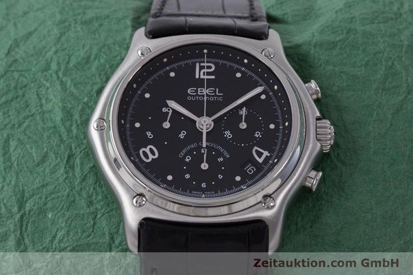 Used luxury watch Ebel 1911 chronograph steel automatic Kal. 137 Ref. 9137240  | 160446 16