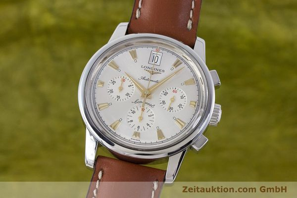 LONGINES CONQUEST CHRONOGRAPH STEEL AUTOMATIC KAL. L650.2 ETA 2894-2 LP: 2880EUR [160450]