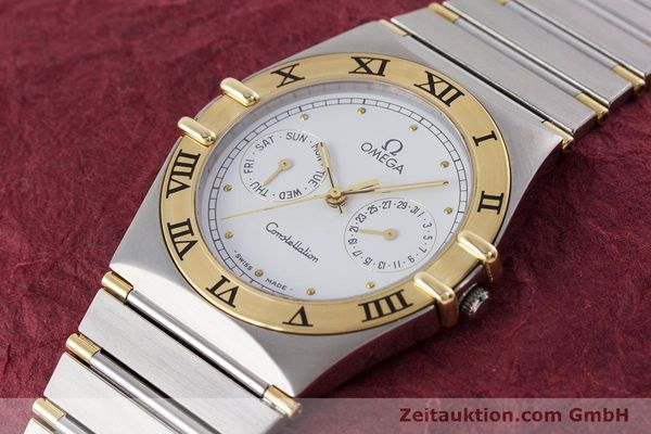 Used luxury watch Omega Constellation steel / gold quartz Kal. 1044 ETA 255.471  | 160467 01
