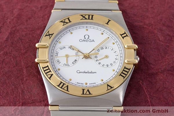 Used luxury watch Omega Constellation steel / gold quartz Kal. 1044 ETA 255.471  | 160467 13