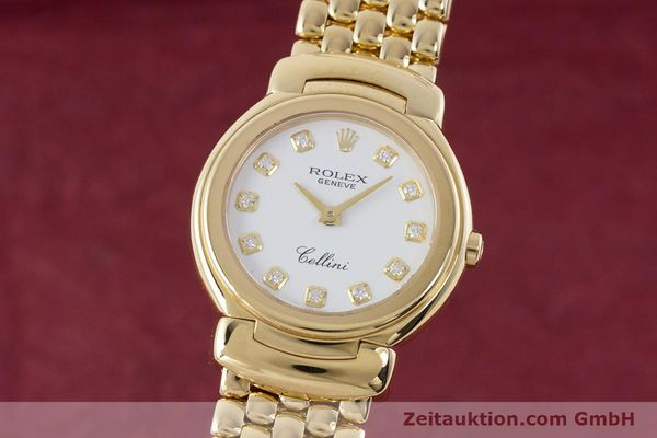 ROLEX LADY CELLINI 18K (0,750) GOLD DIAMANTEN DAMENUHR REF: 6621 VP: 13350,- EUR [160470]