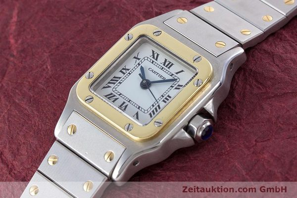 Used luxury watch Cartier Santos steel / gold automatic Kal. ETA 2671  | 160480 01
