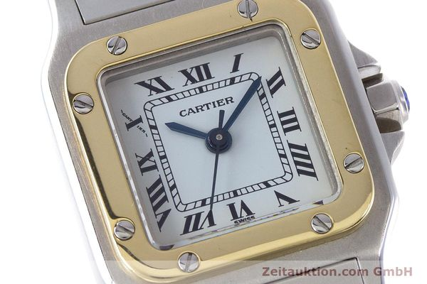 Used luxury watch Cartier Santos steel / gold automatic Kal. ETA 2671  | 160480 02