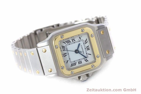 Used luxury watch Cartier Santos steel / gold automatic Kal. ETA 2671  | 160480 03