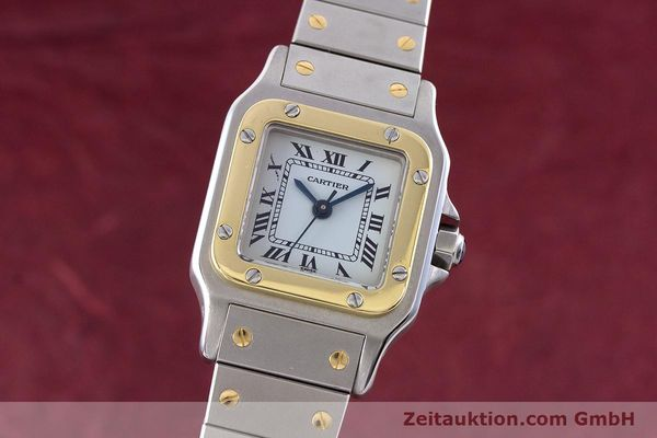 Used luxury watch Cartier Santos steel / gold automatic Kal. ETA 2671  | 160480 04