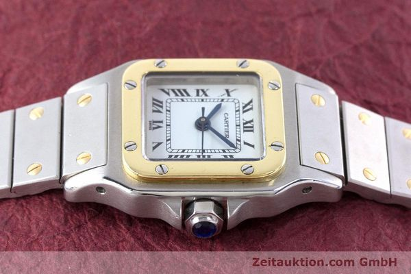 Used luxury watch Cartier Santos steel / gold automatic Kal. ETA 2671  | 160480 05