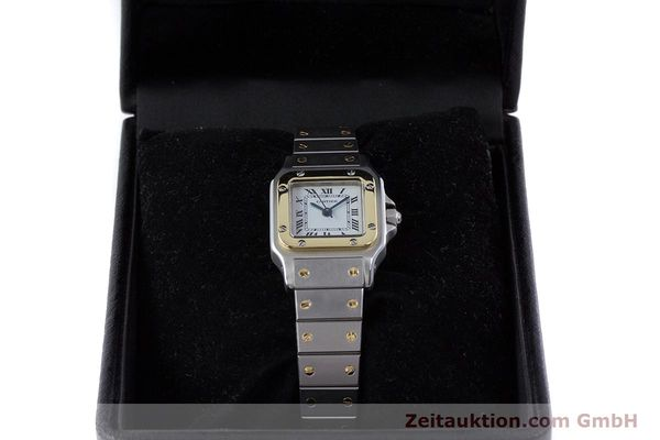 Used luxury watch Cartier Santos steel / gold automatic Kal. ETA 2671  | 160480 07