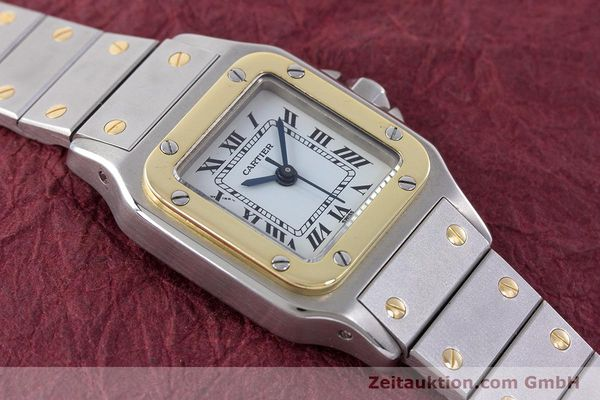 Used luxury watch Cartier Santos steel / gold automatic Kal. ETA 2671  | 160480 12