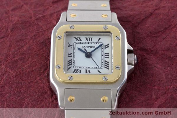 Used luxury watch Cartier Santos steel / gold automatic Kal. ETA 2671  | 160480 13