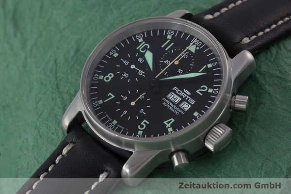 Used luxury watch Fortis Flieger Chronograph chronograph steel automatic Kal. ETA 7750 Ref. 597.10.141  | 160488 01