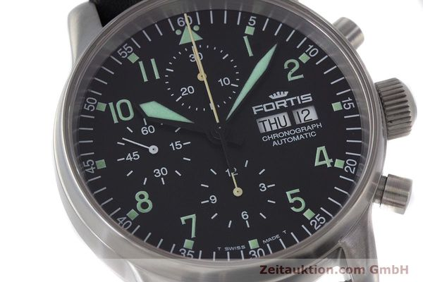 Used luxury watch Fortis Flieger Chronograph chronograph steel automatic Kal. ETA 7750 Ref. 597.10.141  | 160488 02