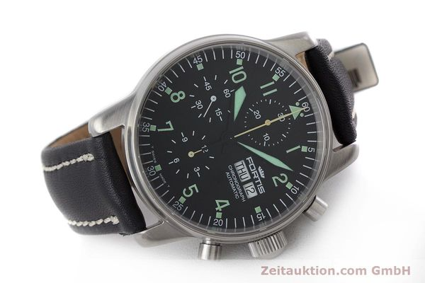 Used luxury watch Fortis Flieger Chronograph chronograph steel automatic Kal. ETA 7750 Ref. 597.10.141  | 160488 03
