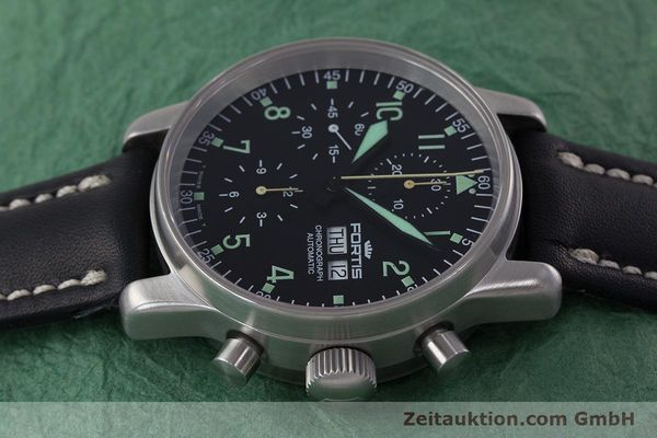 Used luxury watch Fortis Flieger Chronograph chronograph steel automatic Kal. ETA 7750 Ref. 597.10.141  | 160488 05
