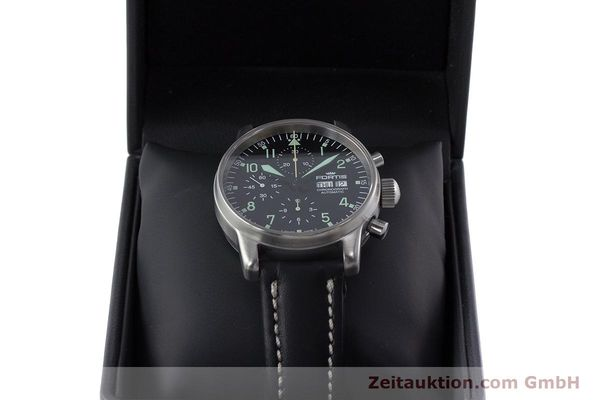 Used luxury watch Fortis Flieger Chronograph chronograph steel automatic Kal. ETA 7750 Ref. 597.10.141  | 160488 07