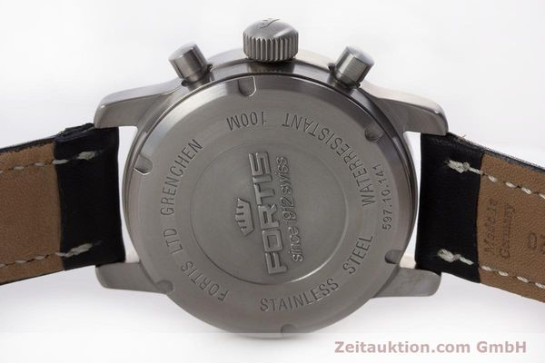 Used luxury watch Fortis Flieger Chronograph chronograph steel automatic Kal. ETA 7750 Ref. 597.10.141  | 160488 09