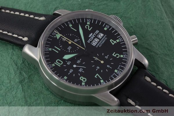 Used luxury watch Fortis Flieger Chronograph chronograph steel automatic Kal. ETA 7750 Ref. 597.10.141  | 160488 13