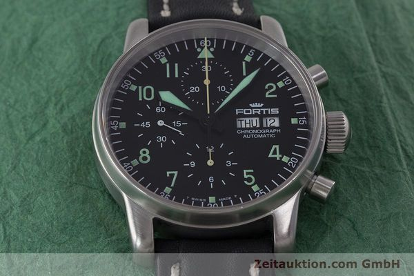 Used luxury watch Fortis Flieger Chronograph chronograph steel automatic Kal. ETA 7750 Ref. 597.10.141  | 160488 14
