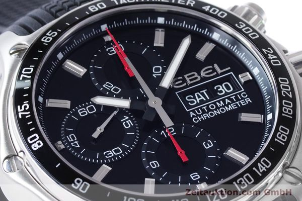 Used luxury watch Ebel 1911 chronograph steel automatic Kal. E750 ETA 7750 Ref. E9750L62  | 160496 02