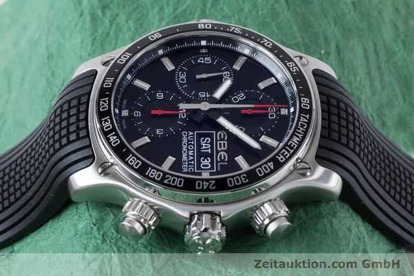 Used luxury watch Ebel 1911 chronograph steel automatic Kal. E750 ETA 7750 Ref. E9750L62  | 160496 05