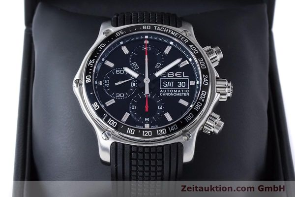Used luxury watch Ebel 1911 chronograph steel automatic Kal. E750 ETA 7750 Ref. E9750L62  | 160496 07