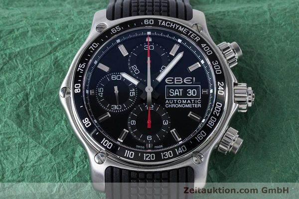 Used luxury watch Ebel 1911 chronograph steel automatic Kal. E750 ETA 7750 Ref. E9750L62  | 160496 16