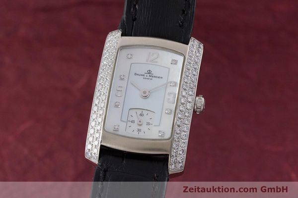 BAUME & MERCIER LADY HAMPTON 18K WEISSGOLD DIAMANTEN DAMENUHR VP: 7300,- Euro [160503]